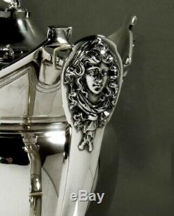 Gorham Sterling Tea Set 1868 Masques Classiques No Mono
