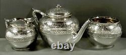 Gorham Sterling Tea Set 1872 Motif Persan