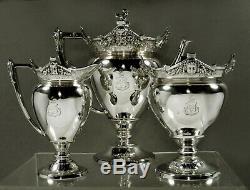 Gorham Sterling Tea Set 1872 Néogrec 67 Oz