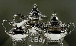 Gorham Sterling Tea Set 1903 Art Nouveau 81 Onces