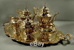 Gorham Sterling Tea Set 1917 Noble Russe 356 Onces
