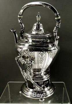 Gorham Sterling Tea Set Bouilloire Et Support 1923 Maintenon 71 Oz
