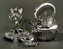 Gorham Sterling Tea Set Kettle & Stand Commande Spéciale 1895