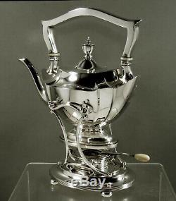 Gorham Sterling Teaq Tea Set Bouilloire Et Support 1920 Plymouth