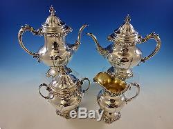 Grande Baroque Par Wallace En Argent Sterling Set De Couverts 12 Dinner Size + Tea Set