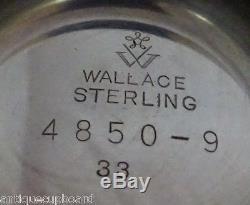 Grande Baroque Par Wallace Sterling Silver Tea Set 4pc # 4850-9 (# 1138)