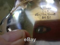 Hampton Court Shield Par Reed & Barton - Ensemble De Thé En Argent Sterling 5 Pièces Motif # 663