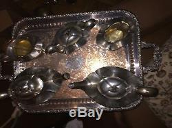 Intéressant Unique Silverplate Complete Service À Thé 5 Pièces Standard Silver Co Ep Bm