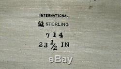 International Co. Sterling À Thé Plateau No Mono