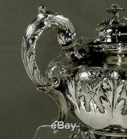 Irish Sterling Tea Set 1844 James Monroe 65 Onces