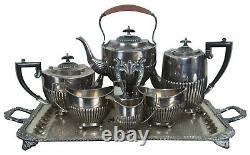 Israel Freeman & Son Art Déco Sheffield England Silver Plate 9 Pc Tea Coffee Set
