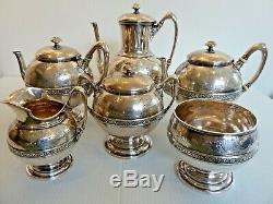 J. E. Caldwell Beaux Sterling Silver 6 Pièces Thé / Café Set English Sterling