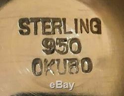 Japonais 5 Pièces Okubo Brothers 950 En Argent Sterling À Thé / Café Set