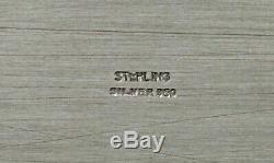 Japonais Sterling À Thé Plateau C1940 Présentation De Cas