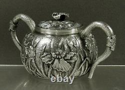Japonais Sterling Iris Tea Set K. Uyeda