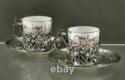 Japonais Sterling Tea Set C1895 Samurai Shokai