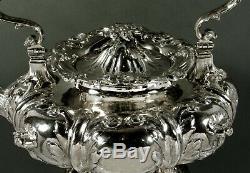 John C. Moore Service À Thé En Argent C1850 Tiffany Fame 90 Onces