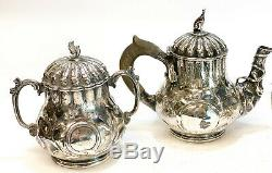 Jones, Ball, And Poor Boston Coin Silver 4 Set Piece Service À Thé, Vers 1850
