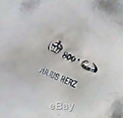 Julius Herz Allemand 800 Argent Trompe L'oeil Présentation Thé Sur Le Plateau