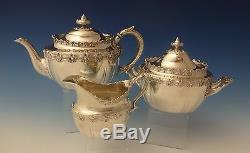 King Anglais De Tiffany & Co. Ensemble À Thé En Argent Sterling À Sucre 3 Pcs (# 0173)