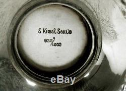 Kirk Sterling Tea Set C1905 Décorés Main Non Mono
