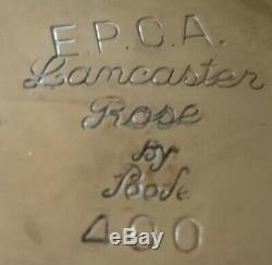 Lancaster Rose 6 Pièces Plaque D'argent À Thé Par Poole