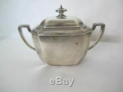 Magnifique C. 1900 Tiffany Hampton Pattern 6 Tea Piece Set Withsterling Tray