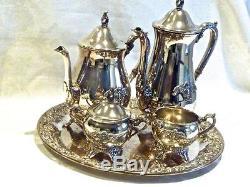 Magnifique Élégant En Plaqué Argent Tea & Coffee Vintage Set Viners