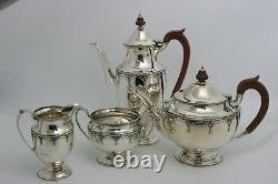 Mappin Et Webb Sterling Silver Coffee Tea Set Art Déco Design
