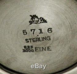 Mauser Ensemble De Thé En Argent Sterling (4) C1895 Rare