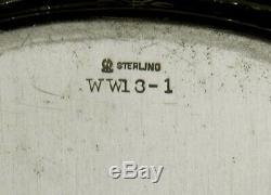Meriden Sterling Tea Set Plateau C1910 Décoré À La Main