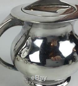 Miyata Milieu Du Siècle Moderne Japonaise En Argent Sterling 950 Tea Set 5 Pièces
