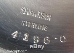 Old Maryland Gravé Par Kirk En Argent Sterling Thé Set 3pc (# 1175)