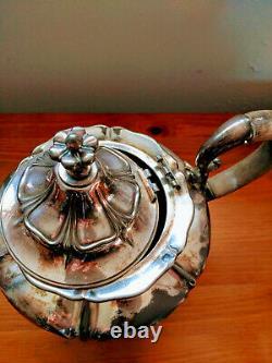 Pairpoint Silverplate Thé / Café Set 4 Pièces New Bedford Ma Circa 1880-1929
