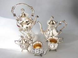 Plaque Argent Vintage Tea Set Coffee Service Inclinable Pot Michael C Fina Ny