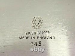 Plaque D'argent Anglaise 5 Pièces Sur L'ensemble De Thé De Cuivre 843 Avec La Théière Inclinée