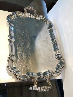 Plaqué International Silver 5 Piece Thé / Café Set Withblack Accents Beautiful