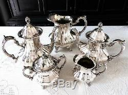 Plate Silver Coffee Service À Thé Towle Grande-duchesse 5 Pièces Set