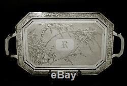 Plateau À Thé En Argent Exportateur Chinois Nanking Silver 72 Onces