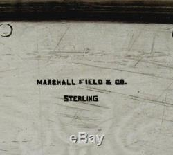 Plateau À Thé Sterling Marshall Fields C1920 Chicago 173 Ounces