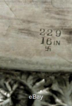 Plateau À Thé Stieff Sterling 1928 Décoré À La Main Sans Monogramme