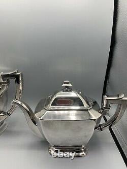 Poole Silver & Co. Thé Et Coffee Set Art Déco