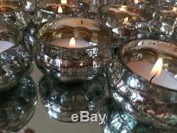 Porte-lumière Citrouille En Verre Argenté Avec Décoration De Table De Mariage Vintage