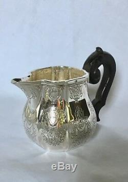 Puiforcat Elysee Français Régence Style Argent Sterling 3 Tea Pc Ou Café