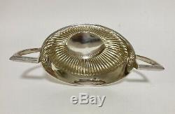 Qualité Set Antique En Argent Massif Thé Teapot Sugar Bowl 1906 C Horner