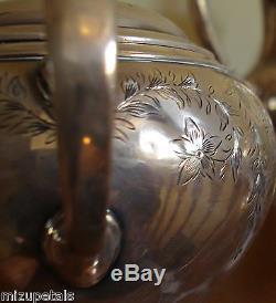 Rare Antiquité S Kirk & Fils Sterling Café Et Thé 59.71 Troy Ozs. Pas De Rebut
