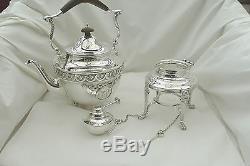 Rare George V Hm Sterling Silver 7 Piece Tea Set 1917