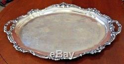 Reed + Barton Provencial # 7040 5 Pc Silverplate Tea Set Avec Gorham Vc777 Tray