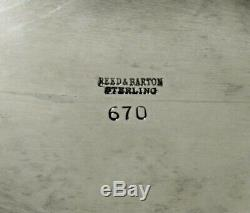 Reed & Barton Service À Thé Sterling, Bouilloire Et Support, C1950, Non Mono