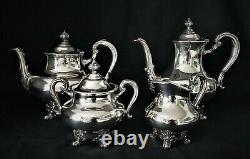 Reed & Barton Silverplate Coffee & Tea Pot Set Service Regent 5600 Silverplated